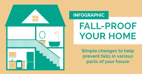 Fall Proof Your Home Infographic - Drayer Physical Therapy