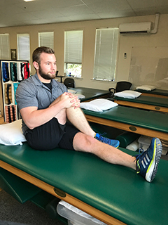 Seated IT Band Stretch - Drayer Physical Therapist