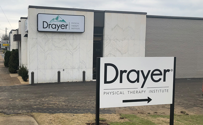 Talladega AL Drayer Physical Therapy Clinic Sign