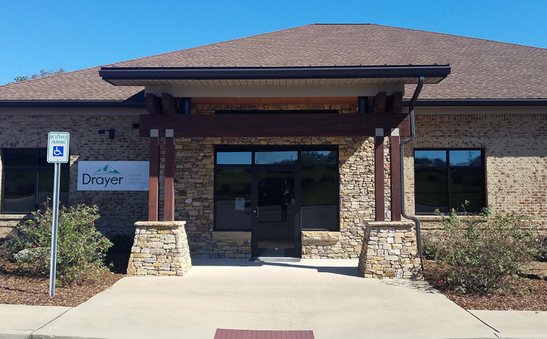 Tuscaloosa AL Drayer Physical Therapy Clinic Exterior