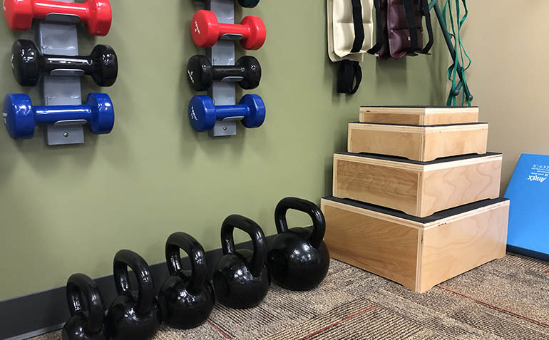 Lynchburg VA Drayer Physical Therapy Clinic Exercise Weights